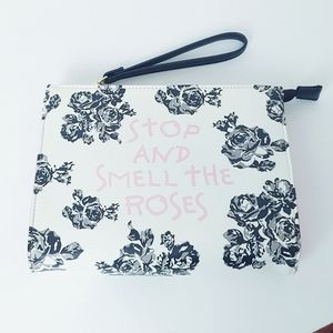 Betsy Johnson Stop and Smell the Rose Wristlet